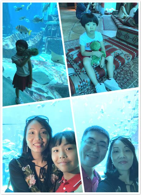 Our Trip to Dubai -- The 4th Day -- The Atlantis Aquarium and a desert safari-第5张图片-Celia的博客